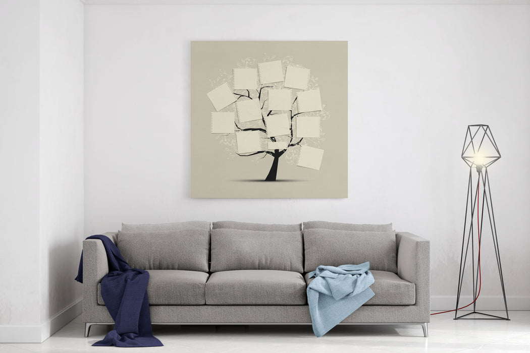 Art Tree With Papers For Your Text Canvas Wall Art Print