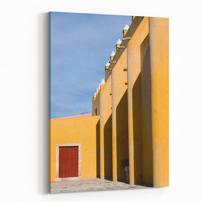 Church In Mexico Canvas Wall Art Print