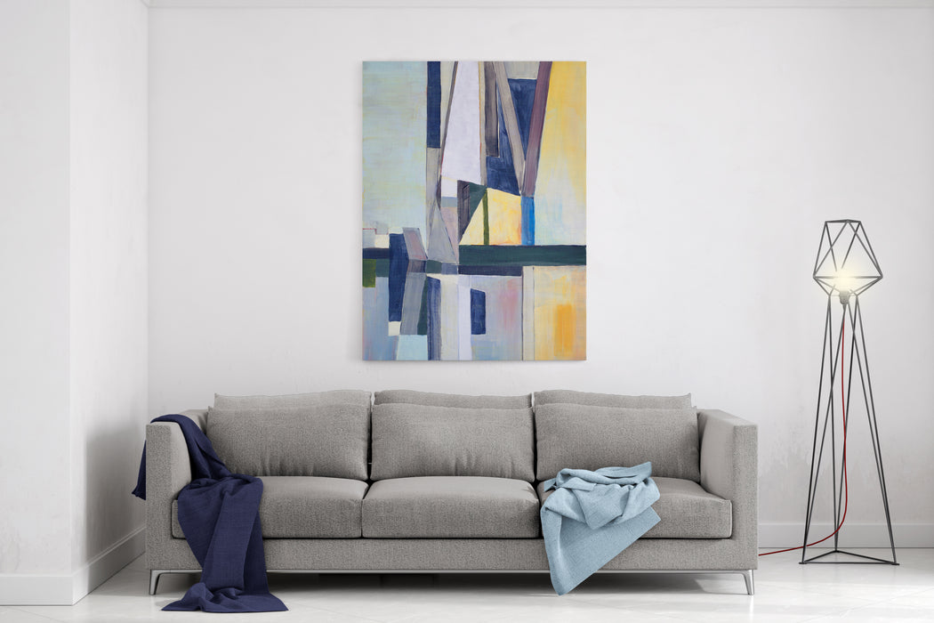 A Study For An Abstract Painting Canvas Wall Art Print
