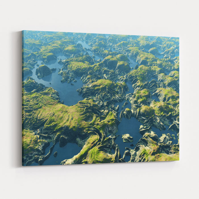 Amazon River Birds Eye View Canvas Wall Art Print