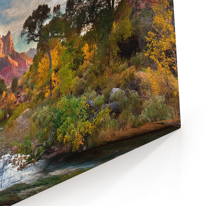 Zion And The Canvas Wall Art Print