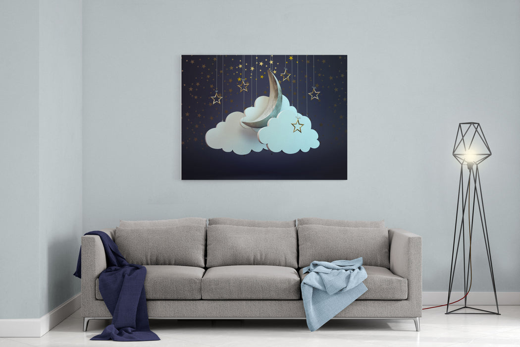 A Night Sky Theater Scene Canvas Wall Art Print