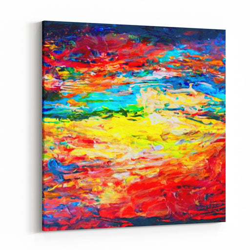 Artists Oil Painting Palette Canvas Wall Art Print