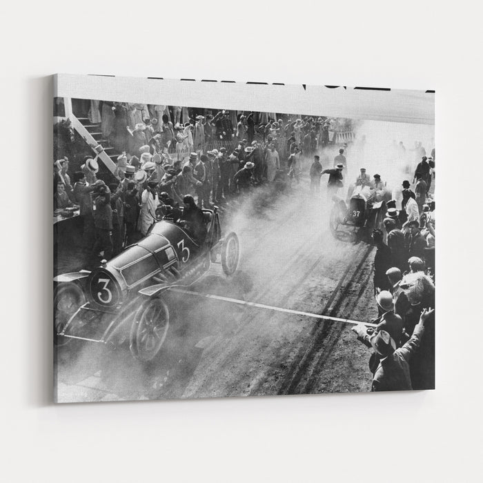 Finish Line At Auto Race Canvas Wall Art Print