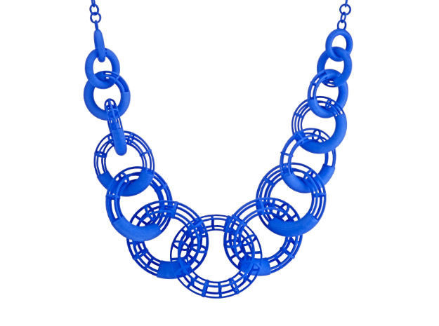 50cm Solid to Structure Torus Necklace - Blue