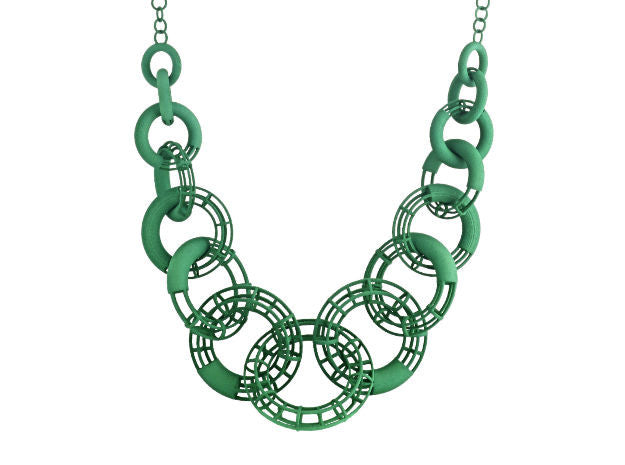 50cm Solid to Structure Torus Necklace - Green