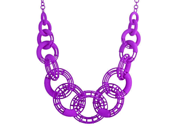 50cm Solid to Structure Torus Necklace - Purple