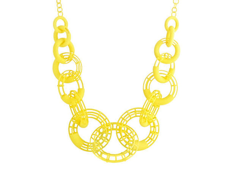 50cm Solid to Structure Torus Necklace - Yellow