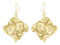 Tessellated Tile (L) - 18K Gold