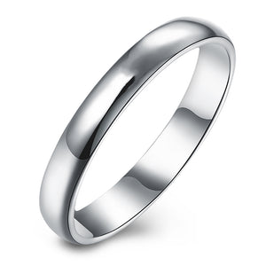 3mm Plain Sterling Silver Wedding Bridal Band Ring Ginger Lyne Collection