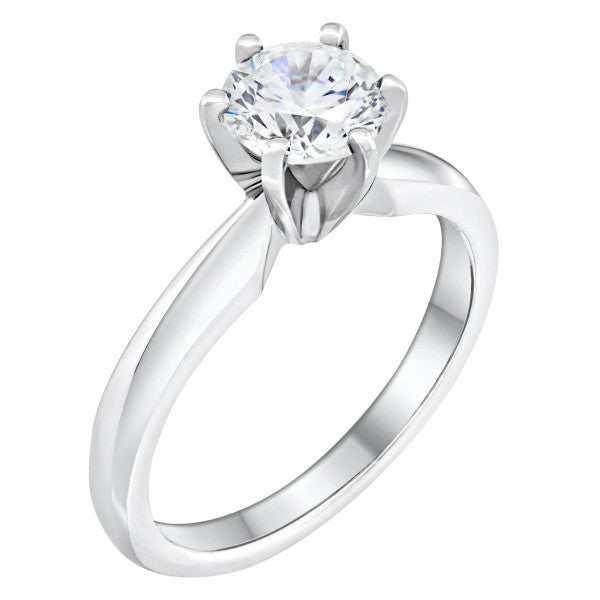 7mm 6 prong Engagement Ring - Ginger Lyne Collection