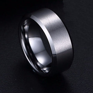 Ginger Lyne Collection Wedding Rings For Women Or Unisex Design Plain Bridal Band Stainless Steel Comfort Fit 8mm Width Mix Or Match For Nice Couples Set
