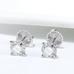 Load image into Gallery viewer, Amore 2 CTW or 4 CTW DEW Solitaire Moissanite Stud Earrings Ginger Lyne Collection Fashion Jewelry for Women Gift Idea