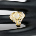 Load image into Gallery viewer, Angelica Statement Ring Womens Yellow Gold Plated Baguette Cubic Zirconia Ginger Lyne Collection