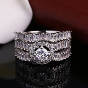 Angelina Gorgeous Bridal Wedding Ring Set- Ginger Lyne Collection