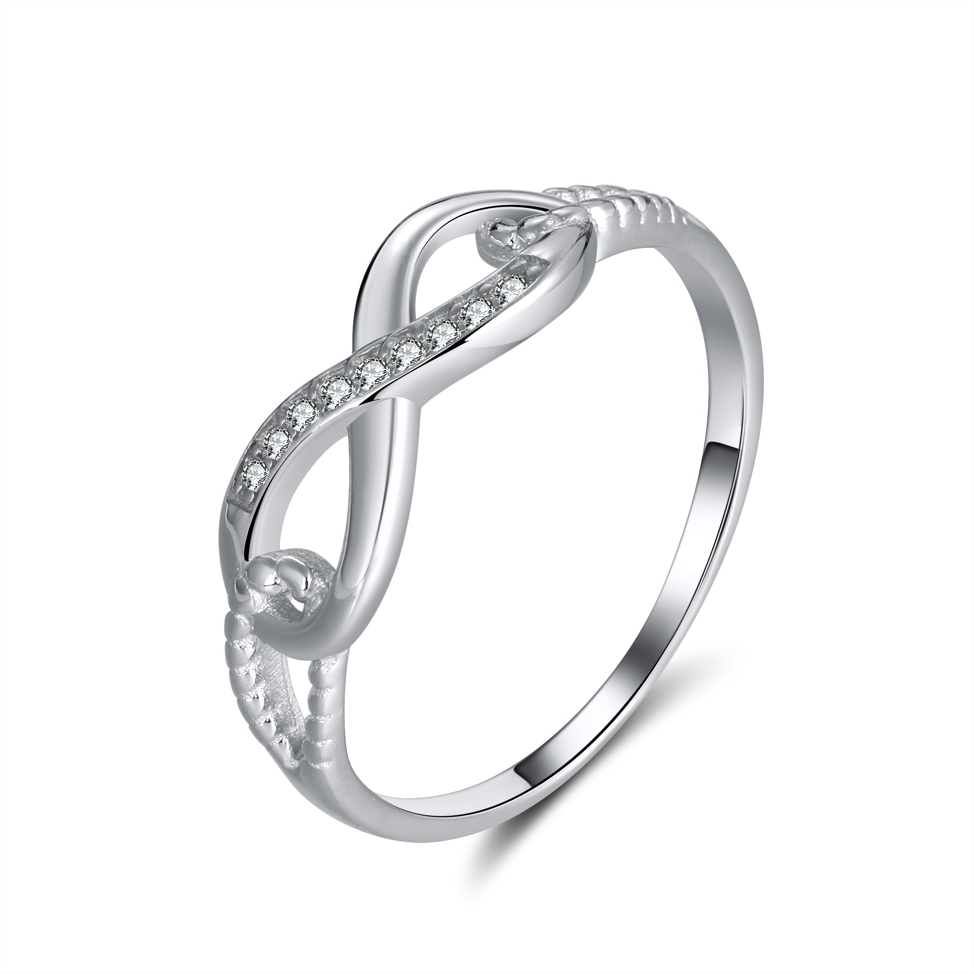 Anna Beautiful Infinity 925 Sterling Silver Ring- Ginger Lyne Collection