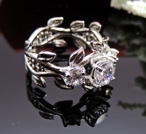 April 3 Stone Ring Exquisite Bridal Engagement Bridal- Ginger Lyne Collection