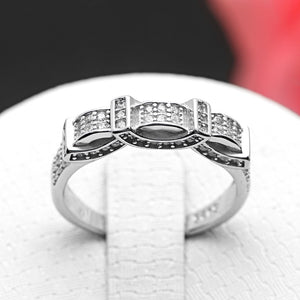 Avalyne Sterling Silver Anniversary Wedding Bridal Band Ring Ginger Lyne Collection