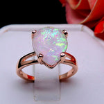 Load image into Gallery viewer, Aviana Large Teardrop Simulated Fire Opal Ring - Ginger Lyne Collection