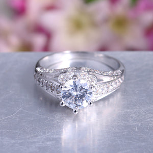 Babs Exquisite Bridal Engagement Ring Ginger Lyne Collection