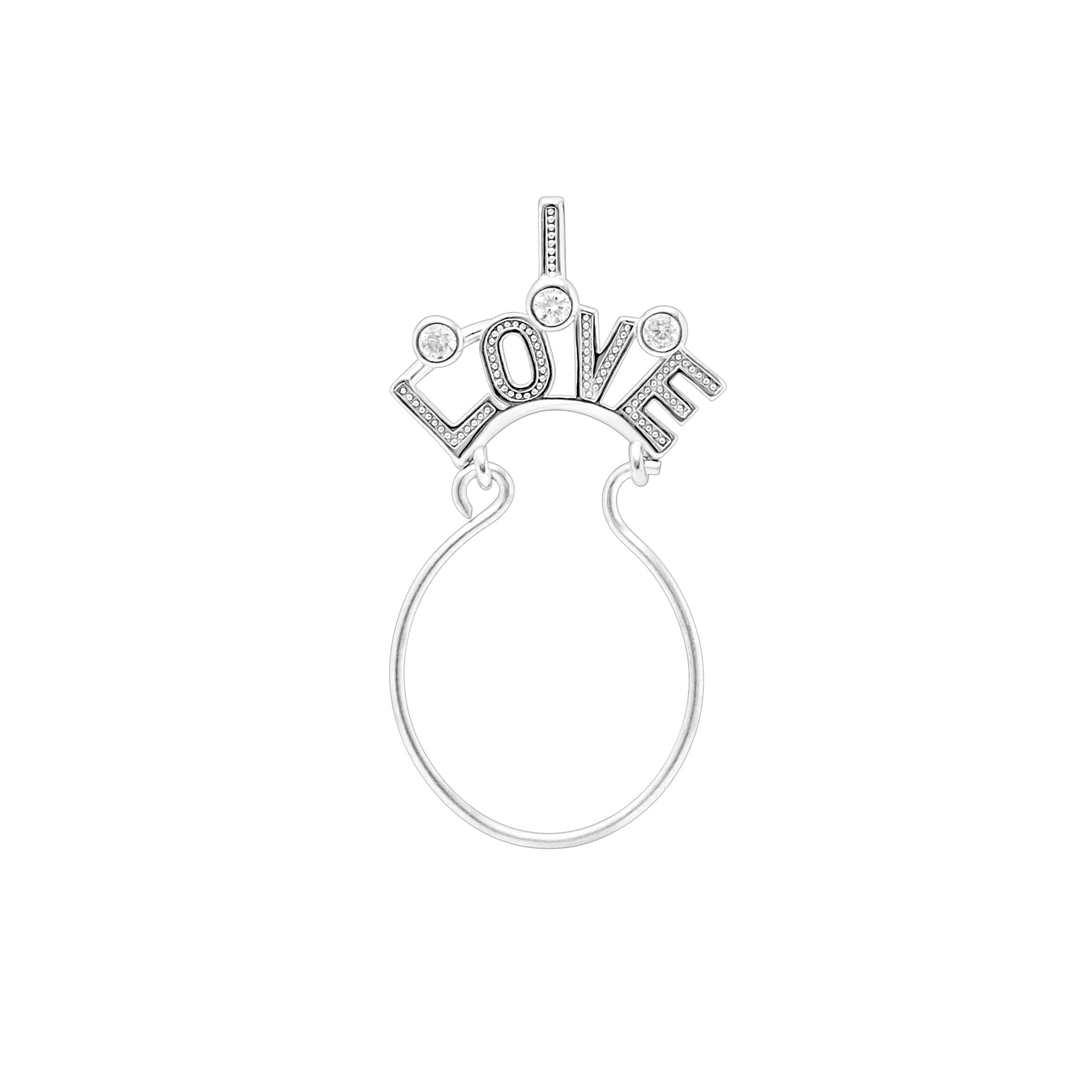 Charm Holder For Necklace By Ginger Lyne Collection|Sterling Silver|Mom Grandma Wife Love|Gift New Mothers