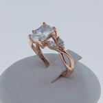 Load image into Gallery viewer, Brendi Rose Gold over Sterling Emerald Marquise Cut Engagement Wedding Bridal Ring Ginger Lyne Collection
