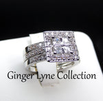 Load image into Gallery viewer, Bridget 3 Ring Bridal Wedding Ring Set - Ginger Lyne Collection