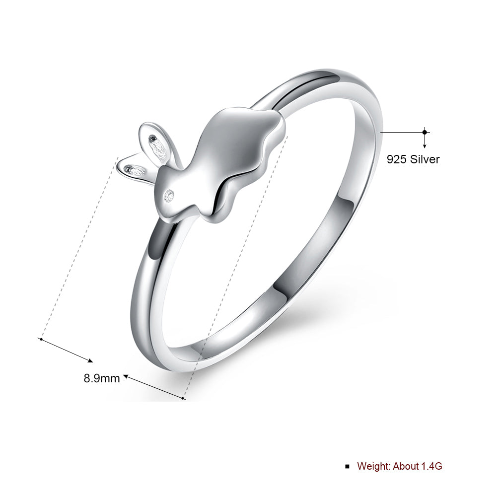 Adorable Bunny Ring for Girls or Women 925 Sterling Silver Easter Pet Jewelry by Ginger Lyne Collection