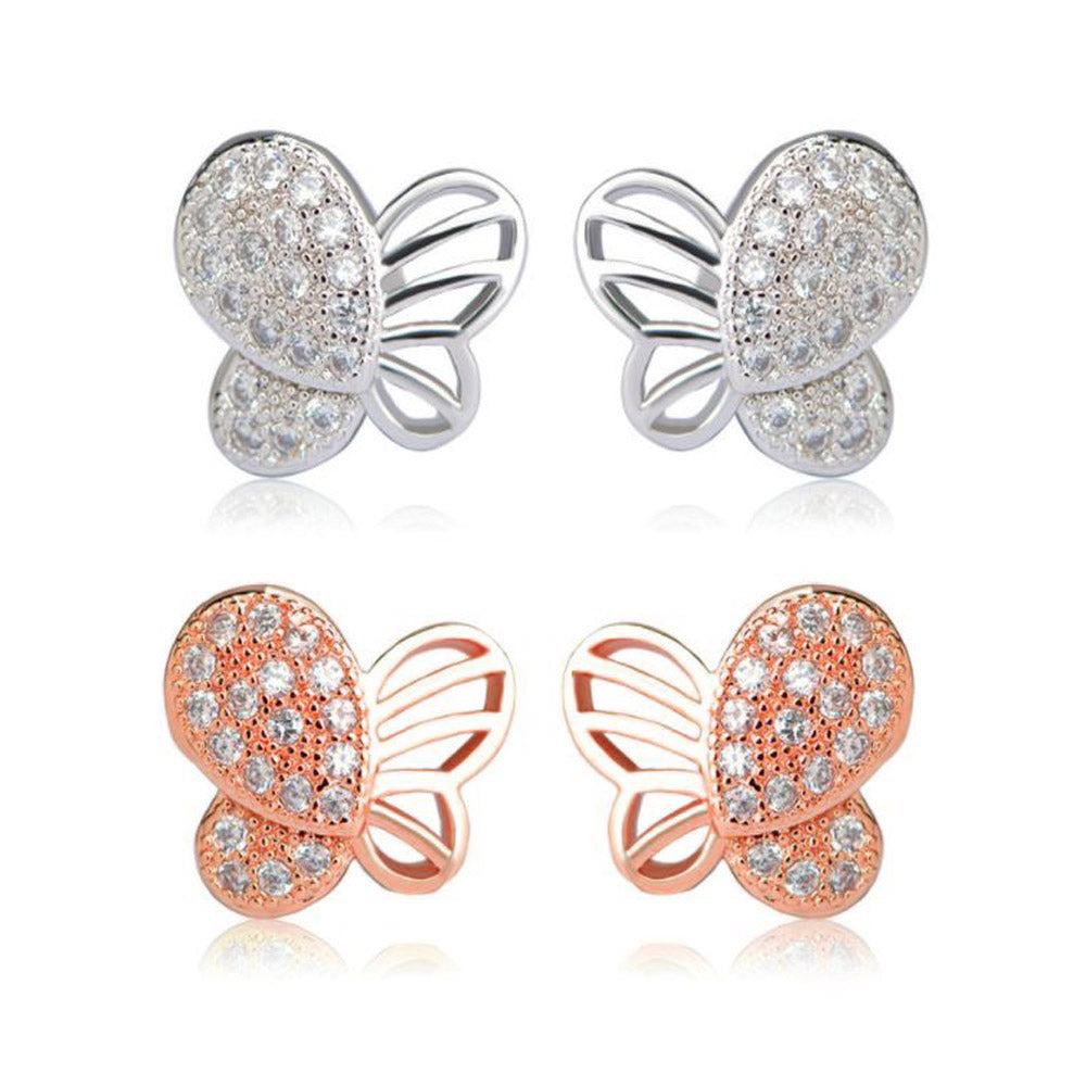 Butterfly Small Stud Earrings - Ginger Lyne Collection