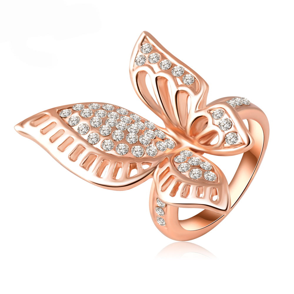 Butterfly High Fashion Ring Ginger Lyne Collection