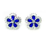 Load image into Gallery viewer, Camran Green or Red CZ Stud Earrings Ginger Lyne Collection