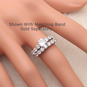 Carla Sterling Silver 7 Stone CZ Engagement Bridal Wedding Ring Ginger Lyne Collection