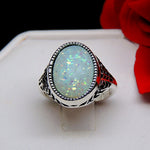 Load image into Gallery viewer, Chandler Simulated Fire Opal Filigree Setting Ring - Ginger Lyne Collection