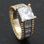 Load image into Gallery viewer, Charlie Princess Cut Engagement Bridal Wedding Ring Ginger Lyne Collection