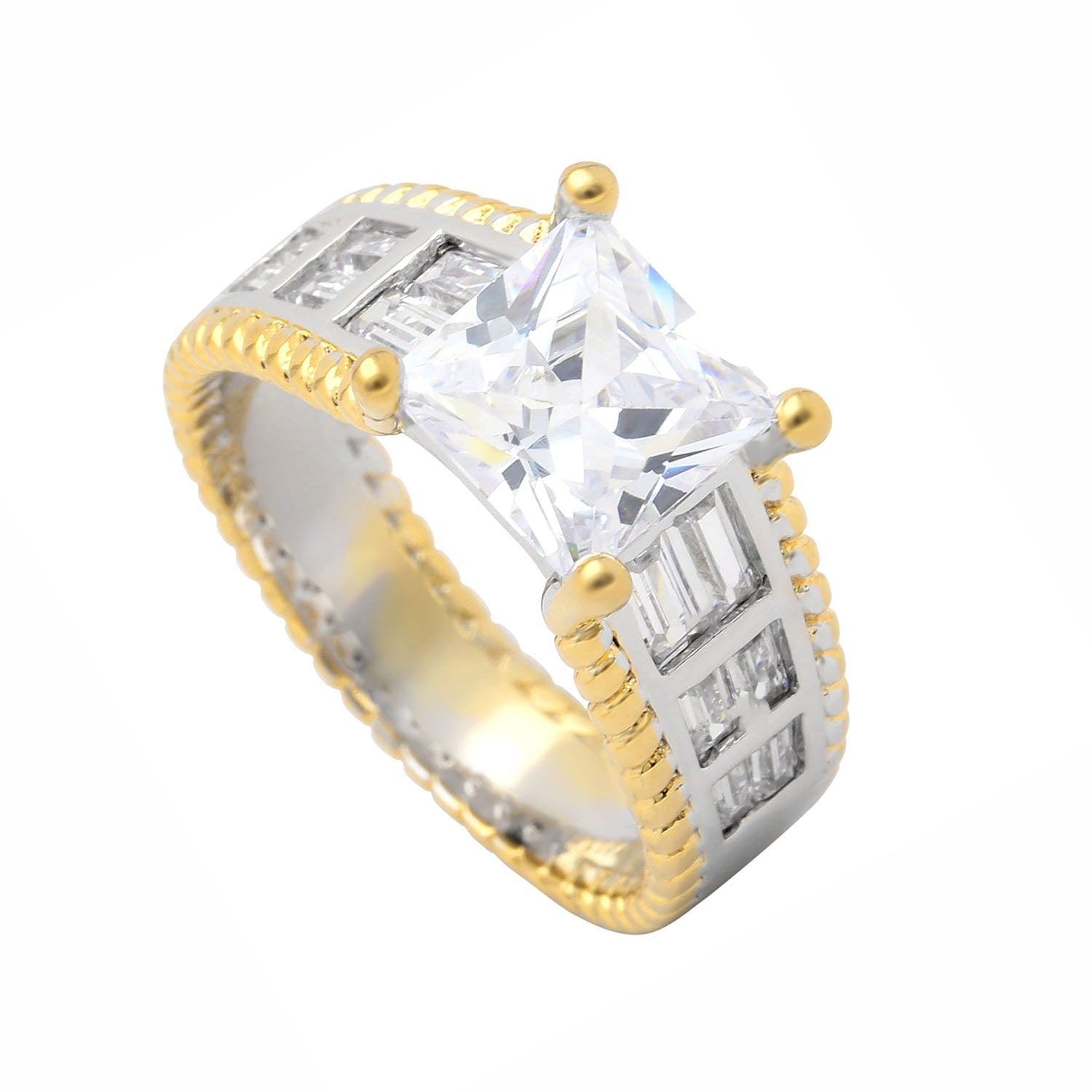 Charlie Princess Cut Engagement Bridal Wedding Ring Ginger Lyne Collection