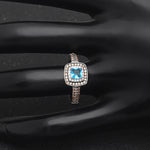 Load image into Gallery viewer, Coco Beautiful Chocolate and Blue Ring Genuine 925 Sterling Silver - Ginger Lyne Collection