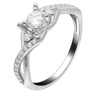 Contessa Engagement Wedding Ring 925 Sterling Silver - Ginger Lyne Collection