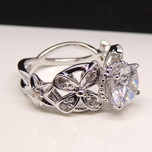 Deb Exquisite Bridal Engagement Ring- Ginger Lyne Collection Size 10