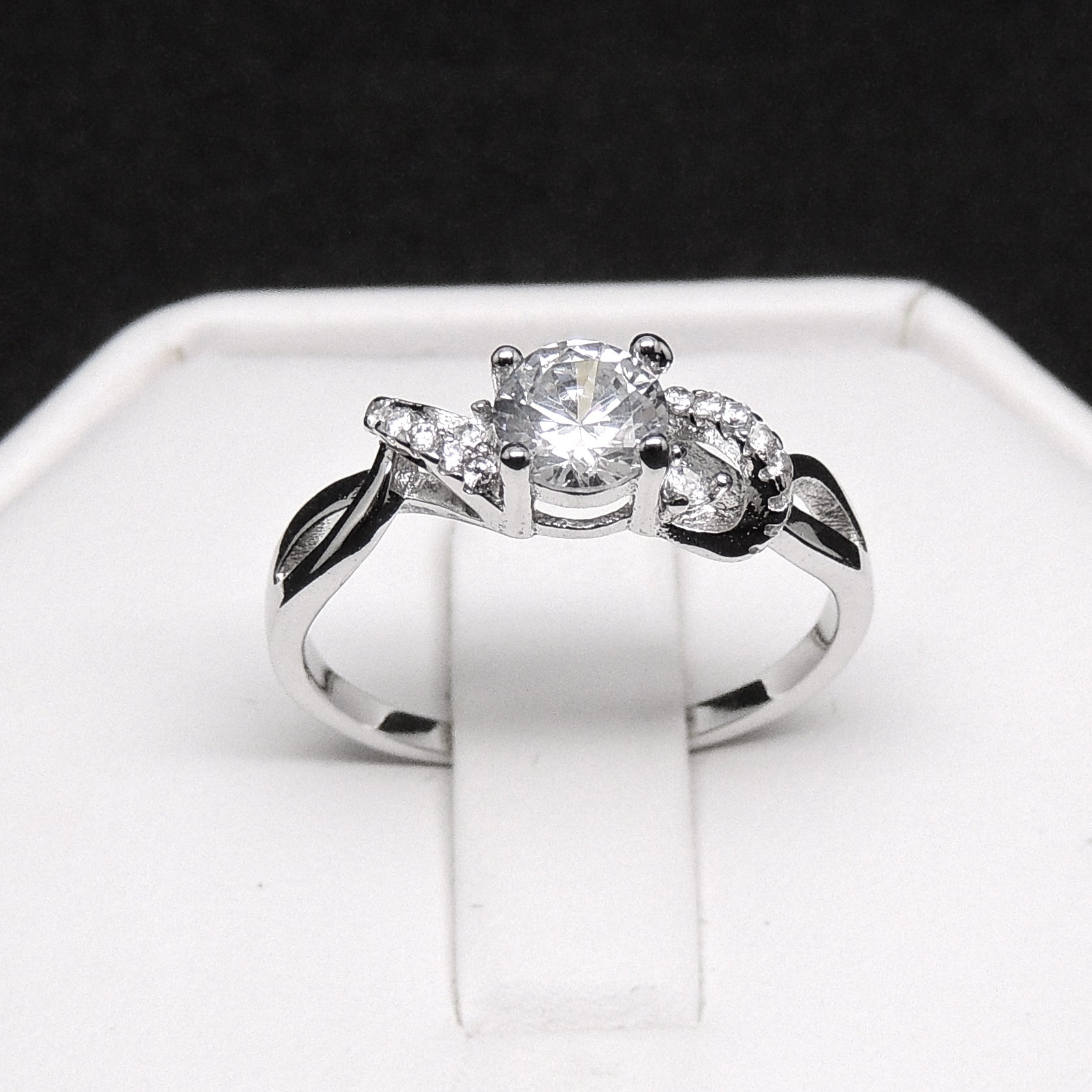 Ferah Enchanting Engagement Ring Sterling Silver- Ginger Lyne Collection