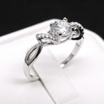 Load image into Gallery viewer, Ferah Enchanting Engagement Ring Sterling Silver- Ginger Lyne Collection