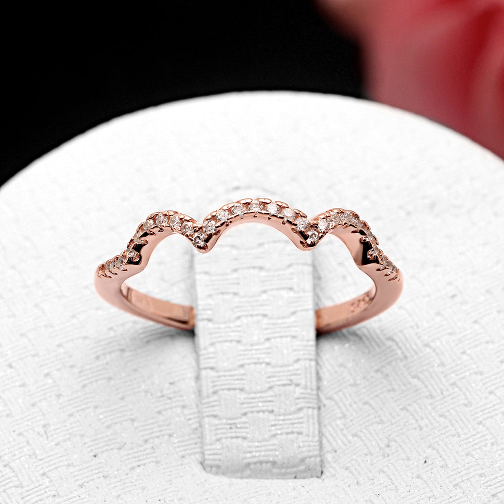 Ellalee Rose Gold Over Sterling Silver Anniversary Band Wedding Ring Ginger Lyne Collection