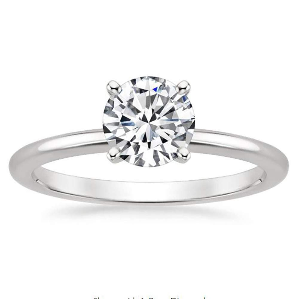 Ginger Lyne Collection Debbie Floral Flower Style 7mm Cubic Zirconia Engagement Wedding Bridal Ring