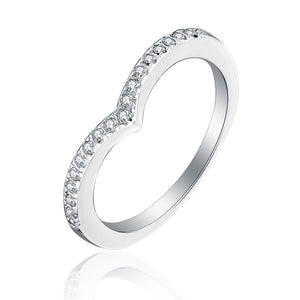Faith Anniversary Ring AAA CZ 925 Sterling Silver Engagement Wedding Band