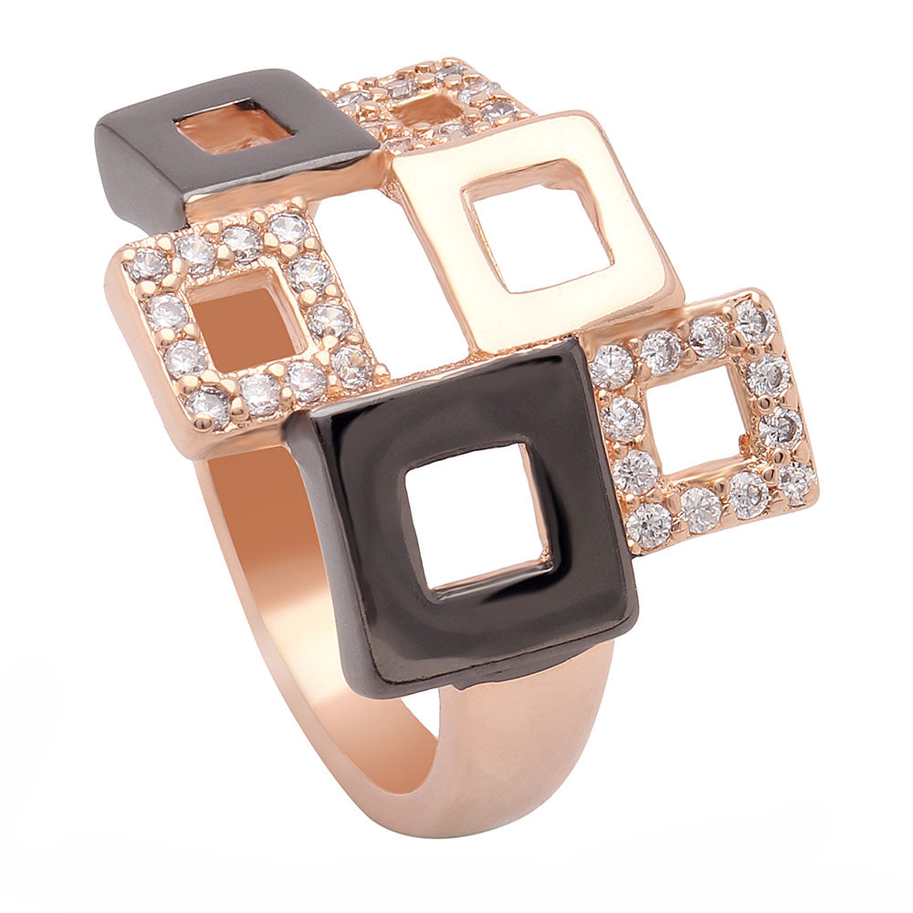 Geo Modern Classy High Fashion Ring Ginger Lyne Collection
