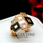 Load image into Gallery viewer, Geo Modern Classy High Fashion Ring Ginger Lyne Collection