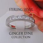 Load image into Gallery viewer, Georgia Anniversary Band 925 Sterling Silver Ring Princess Cut- Ginger Lyne Collection