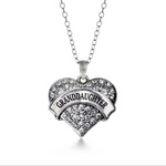 Load image into Gallery viewer, Granddaughter Heart Pendant Chain Necklace- Ginger Lyne Collection