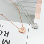 Load image into Gallery viewer, Heart Pendant Rose Gold over Sterling Silver CZ Chain Necklace Ginger Lyne Collection