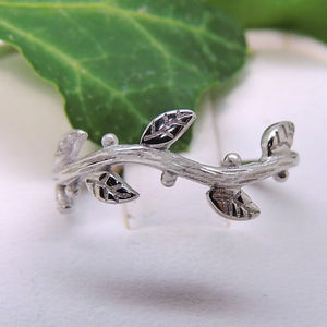 Ivy Sterling Silver Vine Band Ring Ginger Lyne Collection