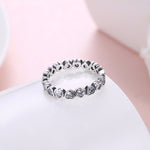 Load image into Gallery viewer, Jana Hearts Solid Sterling Silver CZ Eternity Wedding Bridal Band Ring Ginger Lyne Collection